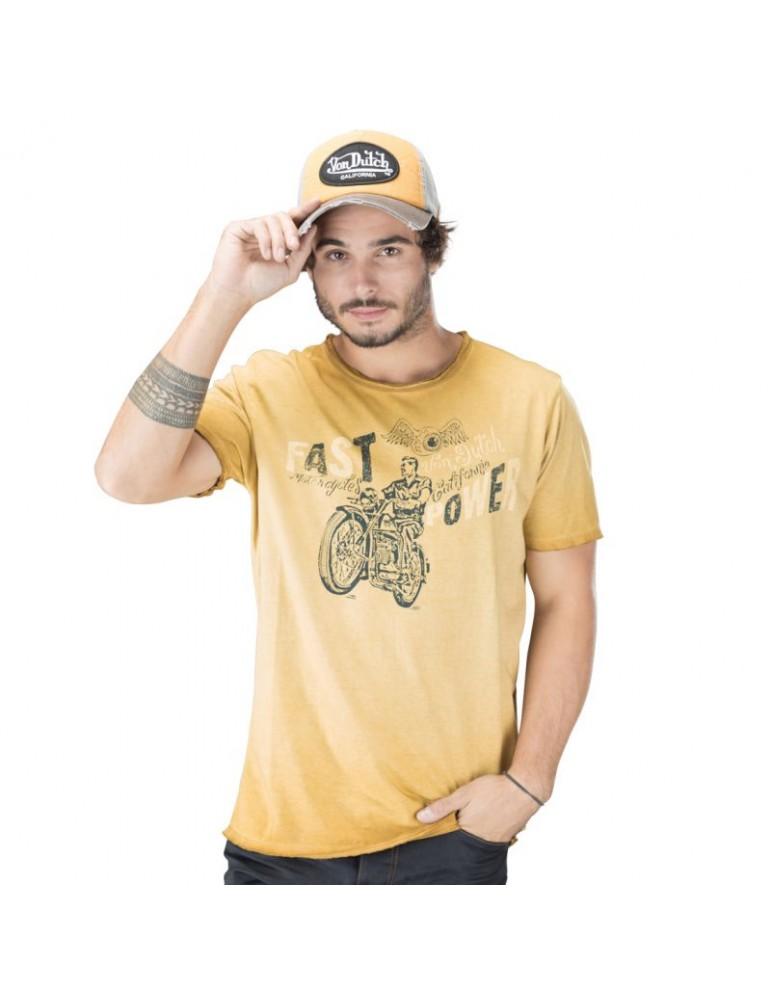 Tee Shirt Homme Von Dutch Fast jaune