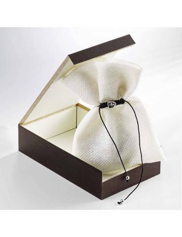 Boite cadeau Porte-clés Cuir et Acier Cachi DOGME96