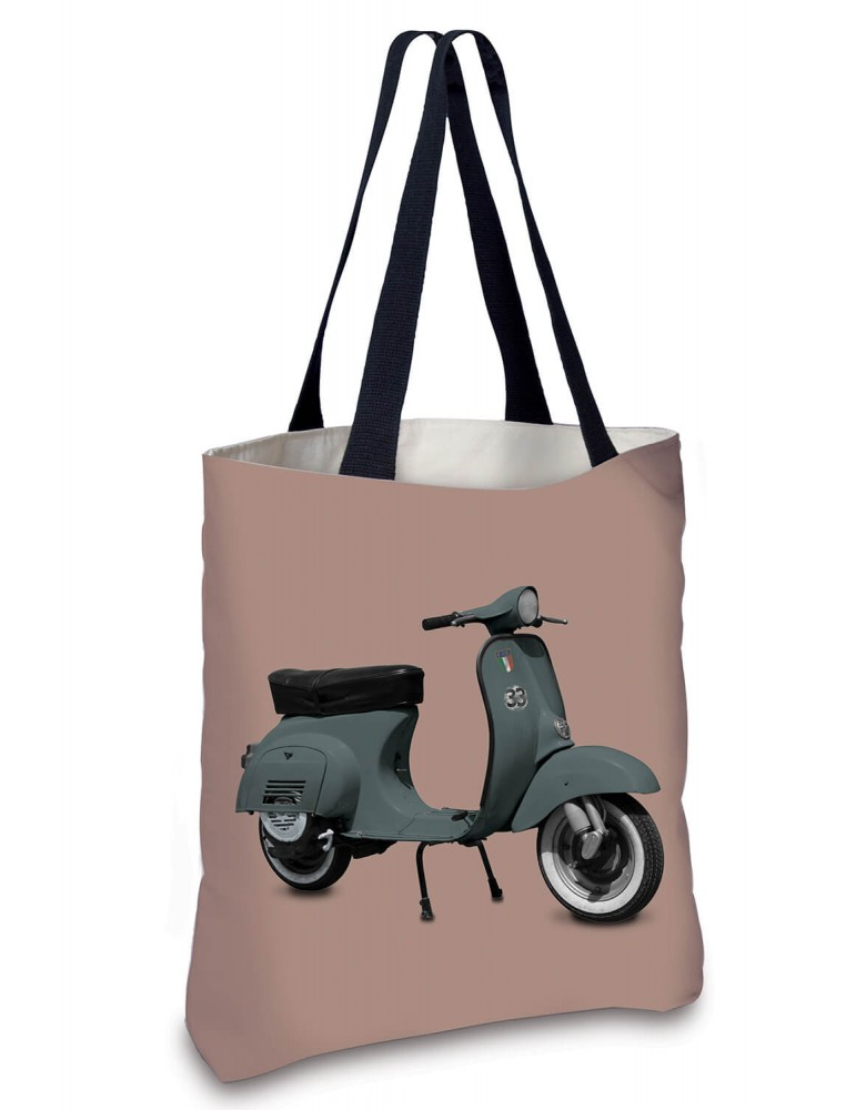Sac Cabas Vintage Scooter kaki rose 45x45 marque COAST AND VALLEY