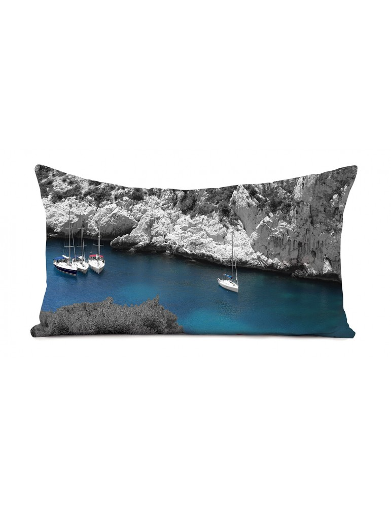 Coussin déco calanques 40x68 marque COAST AND VALLEY
