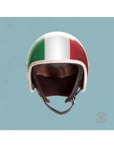 Tableau Toile déco casque Italie bleu 40x40 marque COAST AND VALLEY