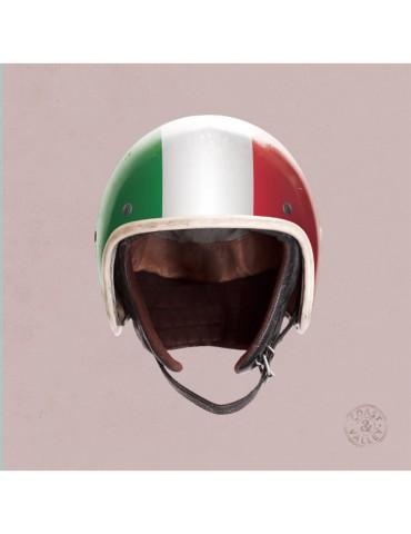 Tableau en toile décoratif casque Italie rose 40x40 marque COAST AND VALLEY
