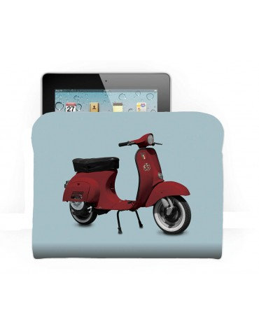 Housse déco pour tablette scooter rouge bleu 21x27 COAST AND VALLEY