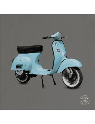 Tableau vintage Scooter bleu gris 40 x 40 cm COAST AND VALLEY