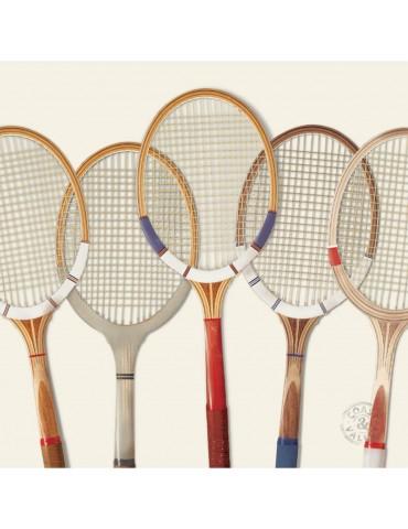 Tableau déco toile vintage Tennis 40 x 40 cm