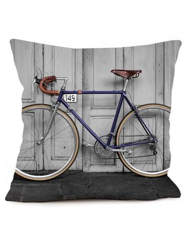 Coussin décoratif vélo vintage 40 x 40 cm