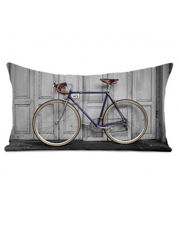 Coussin décoratif vélo vintage 40 x 68 cm