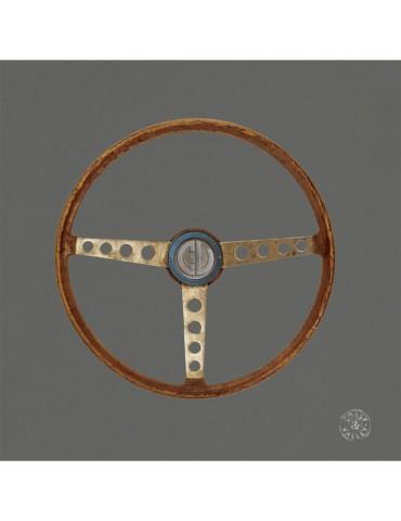 Tableau déco vintage toile Volant Sport gris 40x40