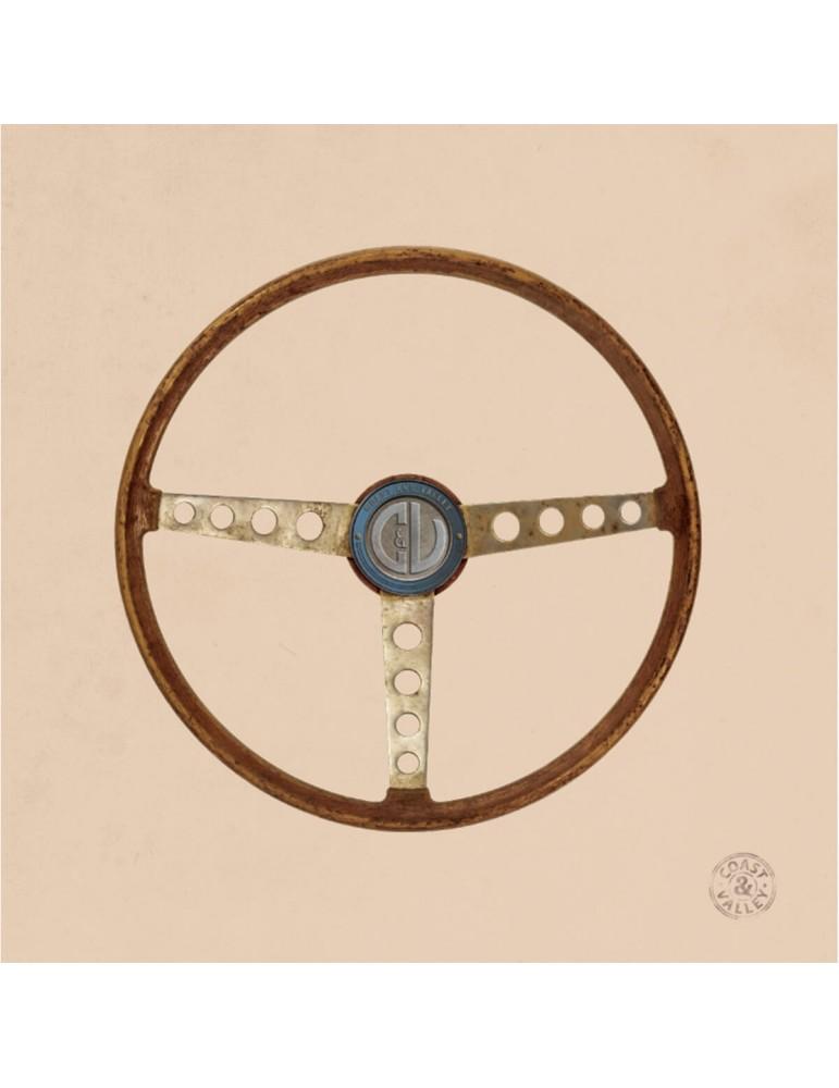 Tableau décoratif vintage toile Volant Sport sable 40 x 40 cm