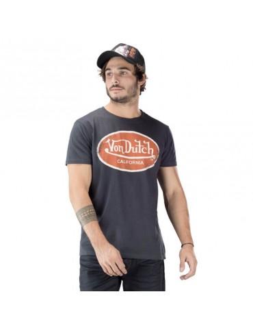 T-shirt homme Aaron gris foncé VON DUTCH