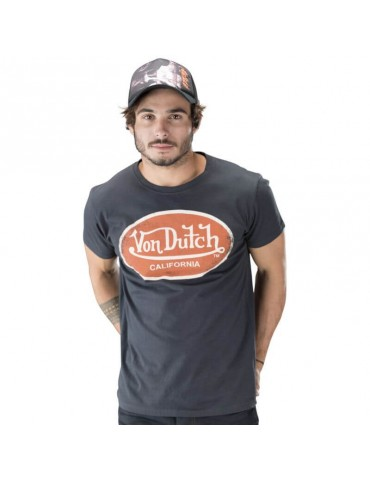 T-shirt homme Aaron gris foncé VON DUTCH 3