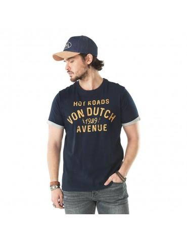 T-shirt Homme Stanley bleu VON DUTCH