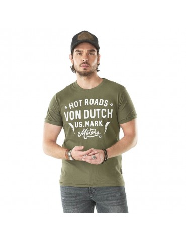 Tee Shirt Homme Angeles kaki VON DUTCH