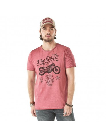 Tee Shirt Homme Cheers rouge vintage VON DUTCH
