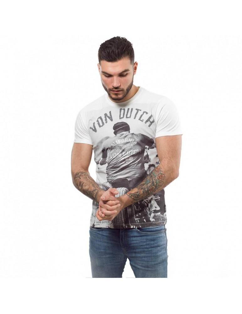 T-shirt homme Cédar blanc écru VON DUCTH