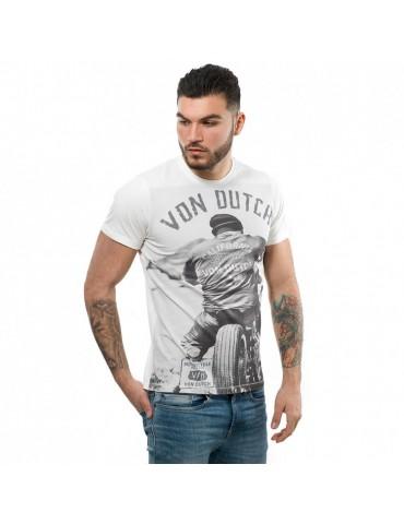 T-shirt homme Cédar blanc écru VON DUCTH 1
