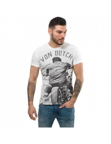 T-shirt homme Cédar blanc écru VON DUCTH 2