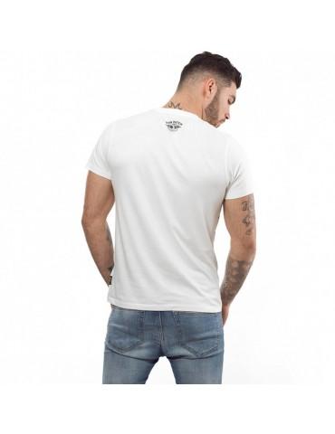 T-shirt homme Cédar blanc écru VON DUCTH 3