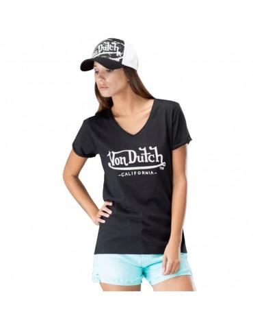 Tee Shirt Femme Basic noir VON DUTCH