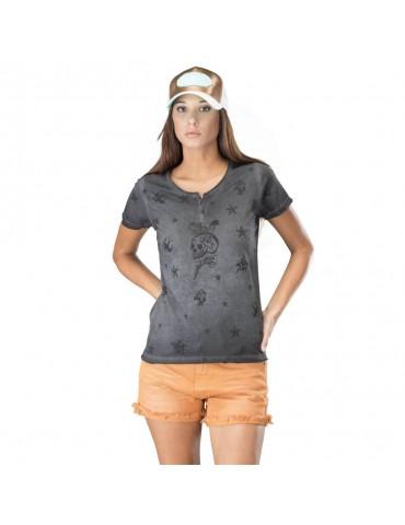 T-shirt Femme Sierra gris VON DUTCH