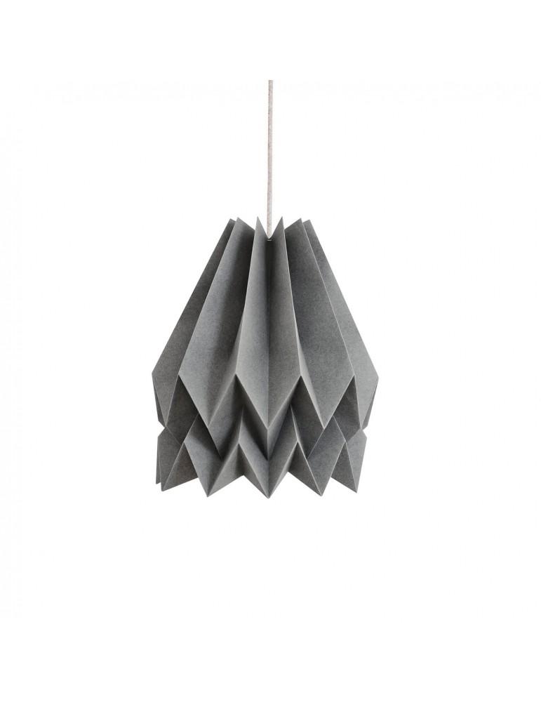 Abat-jour déco gris en papier ORIKOMI