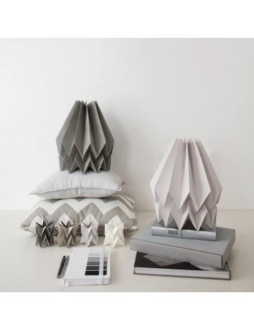 Abat-jour déco gris en papier ORIKOMI 1