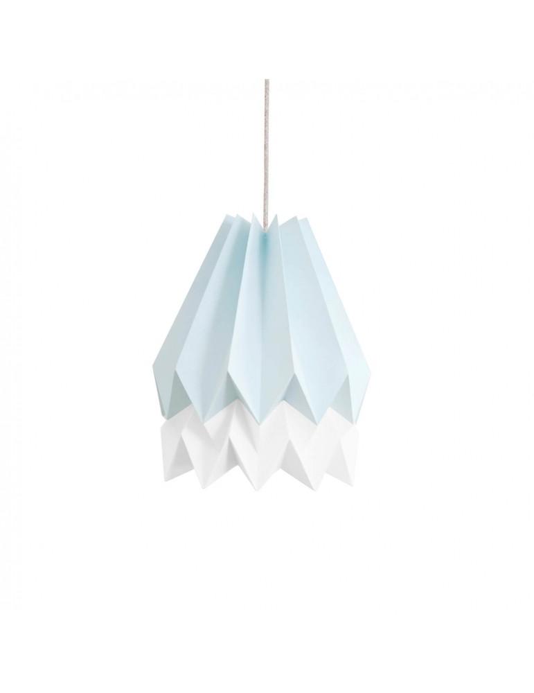 Abat-jour déco bleu clair et blanc en papier ORIKOMI