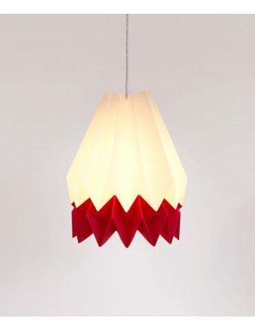 Abat-jour déco blanc et rouge en papier ORIKOMI 1