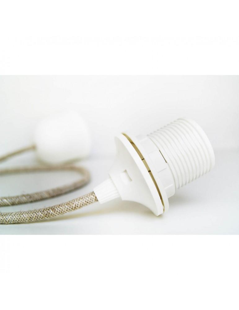 Câble électrique en textile et douille