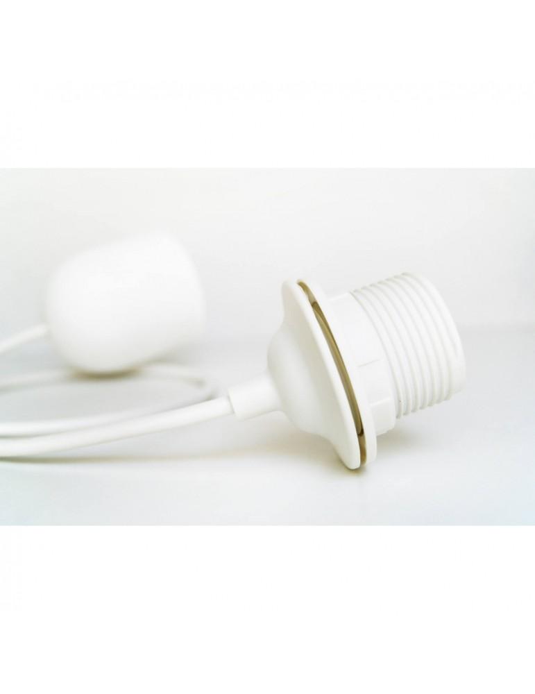 Câble électrique et douille blancs