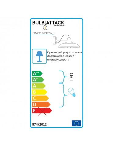 Classe énergie applique métal argentée Cinco W1 BULB ATTACK