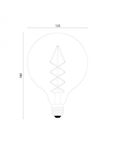 Dimensions Ampoule LED à filaments croisés E27 marque Bulb Attack