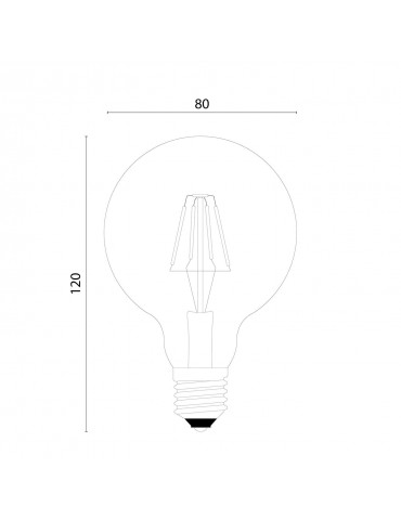 Dimensions ampoule LED à filaments couronne E27