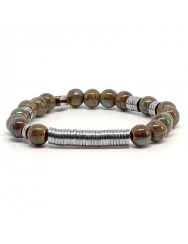 Bracelet pour homme pierres en porcelaine Deferarri