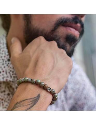 Bracelet pour homme pierres en porcelaine Deferarri 1