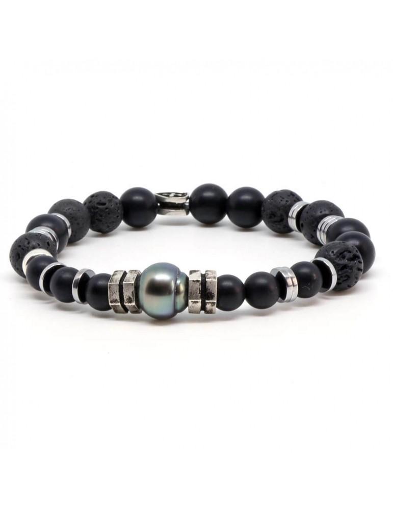 Bracelet mixte mélange perles et pierres Drysdale