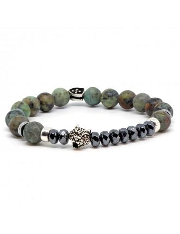 Bracelet pour homme tête de jaguar Diego