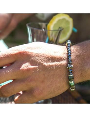 Bracelet pour homme tête de jaguar Diego 1