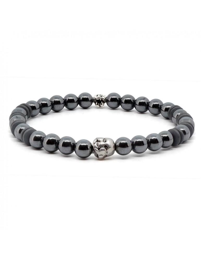 Bracelet mixte perles et tête de Buddha Doyle
