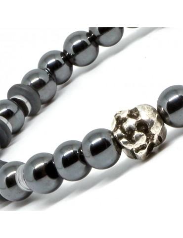 Bracelet mixte perles et tête de Buddha Doyle 1