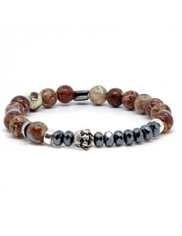 Bracelet pour homme tête de buddha Dyran