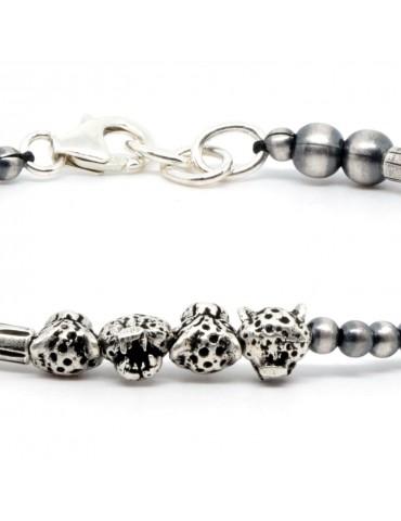 Bracelet pour homme perles en argent chaco 1